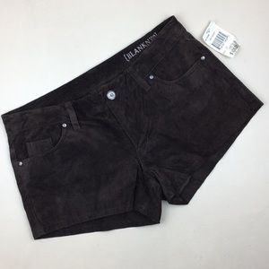 Blank NYC 100% Suede Brown Shorts NWT
